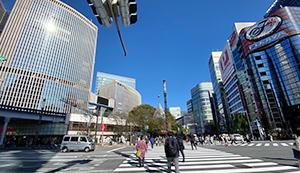 東京メトロ 銀座駅地上の景色